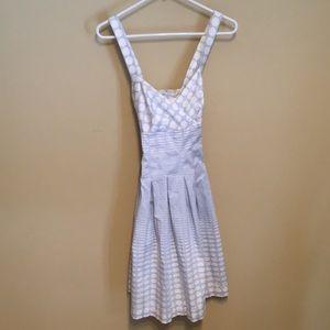 Calvin Klein blue and white sun dress